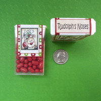 CHRISTMAS RUDOLPH'S NOSES,label,sticker,candy,Tic Tac,favor