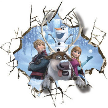 Frozen Crashing-Out-The-Wall Sticker