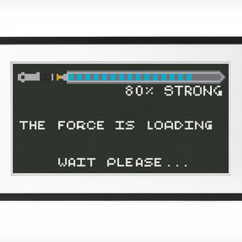 Star Wars The Force Cross Stitch Pattern