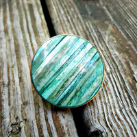 SALE! Coastal Chic Teal Blue Shell & Gold Drawer Knobs by MagicalBeansHome.com