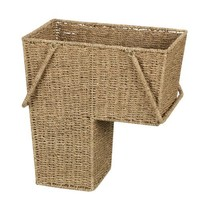 Household Essentials Seagrass Stair Basket with Handle