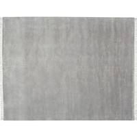 FRINGED HAND-LOOMED RUG - GRAY