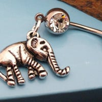 Elephant Belly Button Rings Navel Jewlery by MidnightsMojo on Etsy