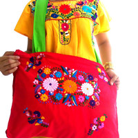 Nicte mexican embroidered boho bag