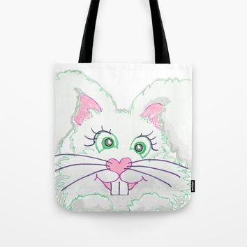 Funny Bunny Bed and Bath Tote Bag by Zurine