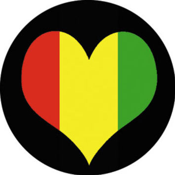 Rasta Heart Button