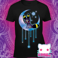 Kawaii Fairy Kei Pastel Goth Dark Side Umbreon Eeveelution Pokemon T Shirt