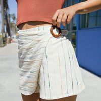 UO Striped Wrap Skort Short | Urban Outfitters