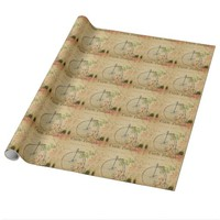 French Postcard Wrapping Paper
