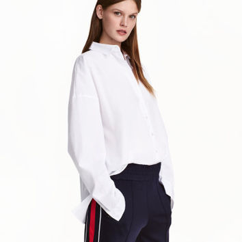 H&M Oversized Cotton Shirt $49.99
