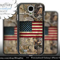 Camo USA Distressed Flag Galaxy S4 case American S5 realtree Tree Camo Samsung s3 Case Note 3 4 Cover Country Inspired Hunting Girl