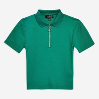 Plain Zip Polo Shirt - New In Fashion - New In