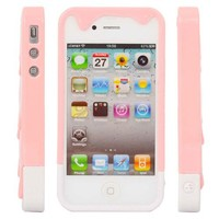New Polymer 3D Carbonate Melt ice-Cream Hard Case for iPhone 4 4G 4S Pink/White