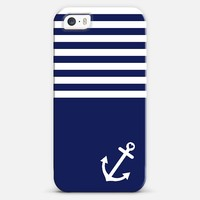 Navy Blue Love Anchor Nautical iPhone 5s case by Organic Saturation | Casetagram