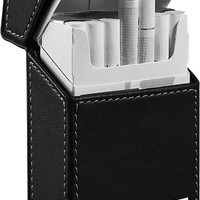 Visol Migo Black Leather Regular Size Cigarette Case Holder