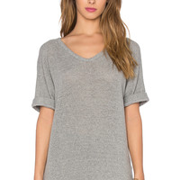 James Perse Knit Mesh Top in Heather Grey