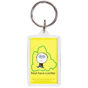 David & Goliath - Boys Have Cooties Keychain