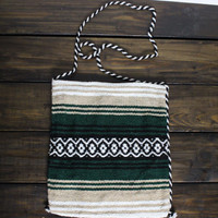 Boho Mexican Bag Serape Blanket Scarf Bag Cross Body Bohemian Bag Girls Aztec Backpak Bag Aztec Indian Travel Bag Striped Handmade Purse