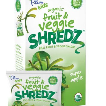 Plum Kids Organic Fruit and Veggie Shredz, Super Apple, 3.15 Ounce