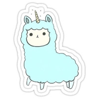'LLLAMACORN' Sticker by Natalie Knowles
