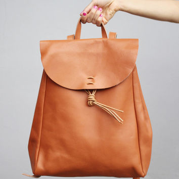 Vintage Style Hand Made Leather Backpack - THE WHITEPEPPER