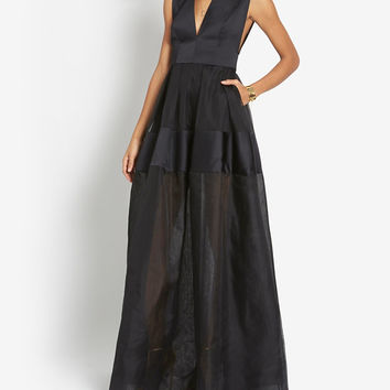 ALEXIS SLEEVELESS SILK GOWN