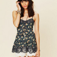 Intimately Printed Viscose Voile Babydoll Cami at Free People Clothing Boutique