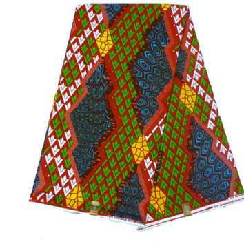 African Designer Fabric - Ghanaian Dutch Wax - GTP NuStyle - Cotton Ankara Print