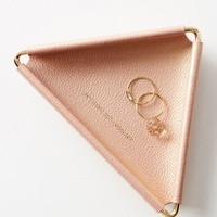 Anthropologie Leather Triangle Trinket Dish | Nordstrom