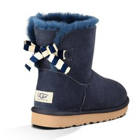 UGG Fashion Women Bow Fur Wool Snow Boots Shoes-4