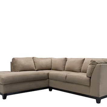 kathy ireland Home Wellsley 2-pc. Microfiber Sectional Sofa | Sectional Sofas | Raymour and Flanigan Furniture