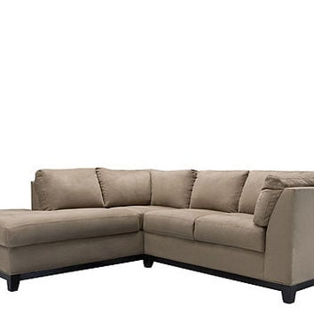Kathy Ireland Home Wellsley 2 Pc. Microfiber Sectional Sofa | Sectional  Sofas | Raymou
