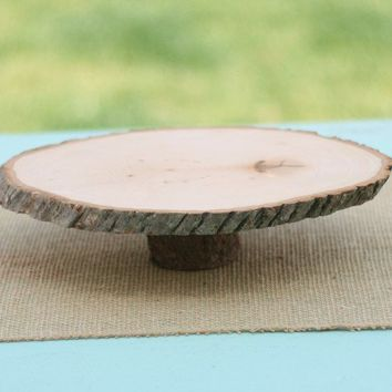 Natural Wood Tree Slice Cake or Pie Stand by braggingbags on Etsy