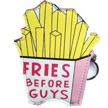 Fries Before Guys Keyring Coin Purse