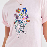 Gnarly Bouquet Short Sleeve Tee   Urban Outfitters