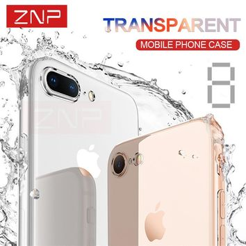 ZNP Ultra Thin Soft Transparent TPU Case For iPhone 6 6s 7 Plus Clear Silicone Cover Case For iPhone X 8 8 Plus 7 Phone Bag Case
