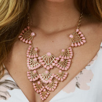 Far Away Necklace: Pink/Gold