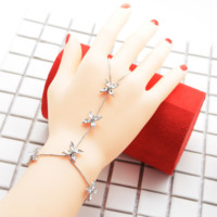 The hot - selling jewelry alloy diamond-studded personality fashion hand accessories