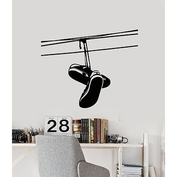 Vinyl Wall Decal Sneakers Shoes Urban Style Teen Room Stickers Mural (g677)