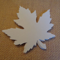 Large (3 1/2 inch)Die Cut Maple Leaf, Fall Leaf Die Cut, Fall Wedding Leaf-set of 12 Maple Leaves, Wedding Placecards, Wedding Decorations
