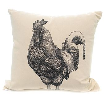 Home Decor ROOSTER PILLOW Fabric Indoor Use Barnyard Farm Mp Rooster 2