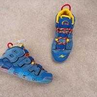 HCXX N292 Nike Air More Uptempo Doernbecher DB Running Shoes Blue Yellow