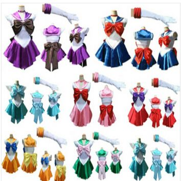 Anime Pretty Soldier Sailor Moon Cosplay Costume Female Halloween Party