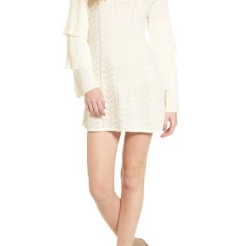 Tularosa Scout Knit Ruffle Sleeve Dress | Nordstrom