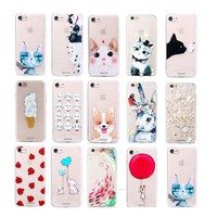Pattern Ultra Slim Soft Silicone TPU Case Cover For iPhone 8 7 6 Plus Samsung S8