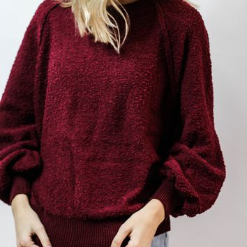 Lazy Gal Sweatshirt (WINE)