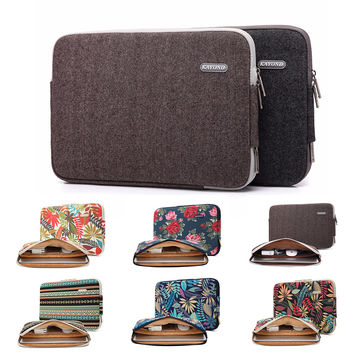Hot Sale Kayond Brand Laptop Sleeve Case Business Computer Bag Canvas Mouse Power Pocket For ipad Tablet MacBook 11,13,14,15inch