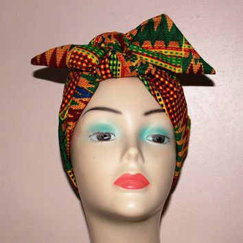 African Ankara Collar Choke Necklaces Scarf Headband African Print Fabric