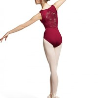 Mirella Peacock Plume Back Panel Tank Leotard / Bloch