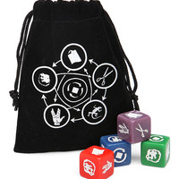 Rock Paper Scissors Lizard Spock Dice Set